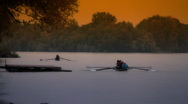 Stock Video Footage of Rowing At Fall ARTCOLORED 01