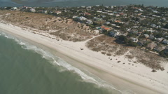 Aerial Clearwater Beach Houses Stock Footage