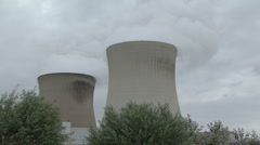 nuclear power plant - stock footage