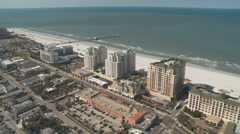 Aerial Clearwater Beach Condos Roundabout Stock Footage