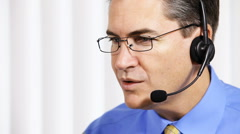 Customer service operator. Businessman Stock Footage