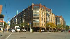 Toronto St Lawrence market neighborhood, wide shot Stock Footage