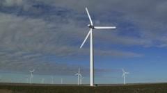 Field of Wind Turbines 001 Stock Footage