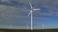Stock Video Footage of Field of Wind Turbines 001