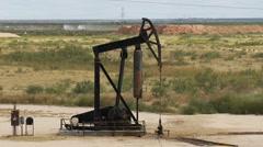 Oil pump jack 001 - stock footage