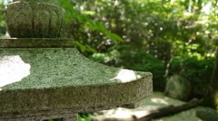 Japanese Stone Lantern Depth Of Field Stock Footage