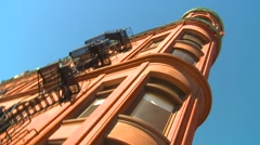 Architecture, Gooderham Building (flatiron) Toronto, hand-held Stock Footage