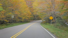 Driving through Smugglers Notch, Vermont in autumn (#1) Stock Footage