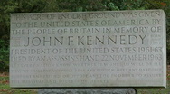 Stock Video Footage of John F Kennedy Memorial, Runnymede, England