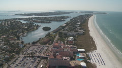 Aerial Don Cesar Hotel Orbit Stock Footage