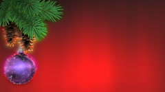 Christmas background, loop-able 3d animation Stock Footage