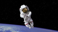 Stock Video Footage of HD Astronaut on Spacewalk