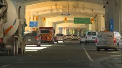 Traffic under the gardiner expressway Stock Footage