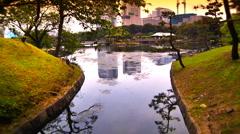 Japanese Garden ARTCOLORED 01 - stock footage