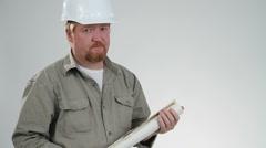 Impatient Contractor Stock Footage