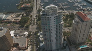 Aerial St Petersburg High Rise Condo 2 Stock Footage