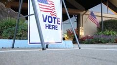 People going to vote - stock footage