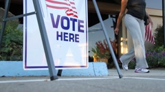 Public Voting Spot - stock footage