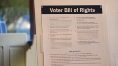 Voter Bill or Rights - stock footage