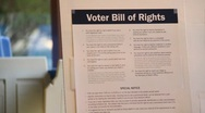 Stock Video Footage of Voter Bill or Rights