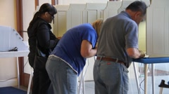 Voting People - stock footage