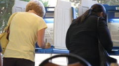 Women Voting - stock footage