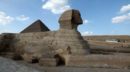 Stock Video Footage of Sphinx and Great Pyramids - Time Lapse