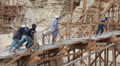 Renovation Work at Step Pyramid in Egypt Footage