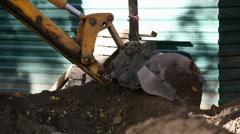 Excavation Stock Footage