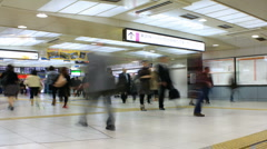 Busy Subway Station in Tokyo Stock Footage