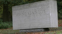 John F Kennedy Memorial, Runnymede, England Stock Footage
