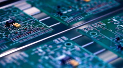 PCB Soldering Stock Footage