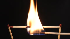 Match stick burn and spring. Stock Footage