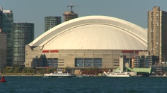 Rogers Centre (skydome), Toronto, with skyline Stock Footage