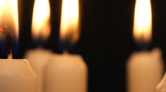 Candle light. Burning candles rotating. - stock footage