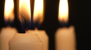 Stock Video Footage of Candle light. Burning candles rotating.