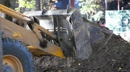 Stock Video Footage of Grader pours the ground