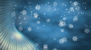 Stock Video Footage of Snowflakes with Blue Accent