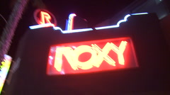 The Roxy on Sunset - stock footage
