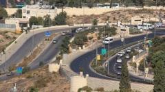 Road in Jerusalem, Israel Stock Footage
