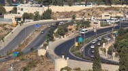 Road in Jerusalem, Israel Stock Footage