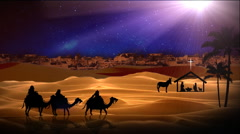 Three Wisemen to Bethlehem Stock Footage