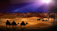 Stock Video Footage of Three Wisemen to Bethlehem