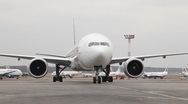 Stock Video Footage of Aircraft taxiing