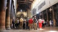 Church of the Nativity in Bethlehem, Israel Stock Footage