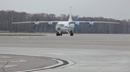 Stock Video Footage of Aircraft stay on the runway