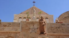 Stock Video Footage of Church of the Nativity in Bethlehem, Israel