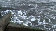 Coastal constructions - stock footage