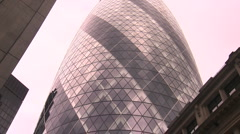 Gherkin building mcu Stock Footage