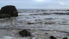 A sea is gloomy Stock Footage